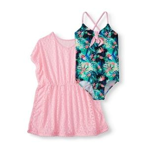 Wonder Nation Girls Swimsuit and Cover Up NEW!